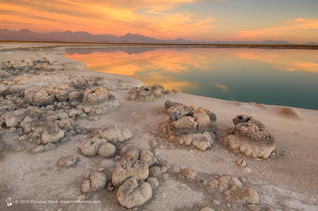 Laguna Cejas, Atacama Salt Lake, Salar de Atacama, near San Pedro de Atacama, Atacama Desert, Altiplano, Antofagasta, Chile